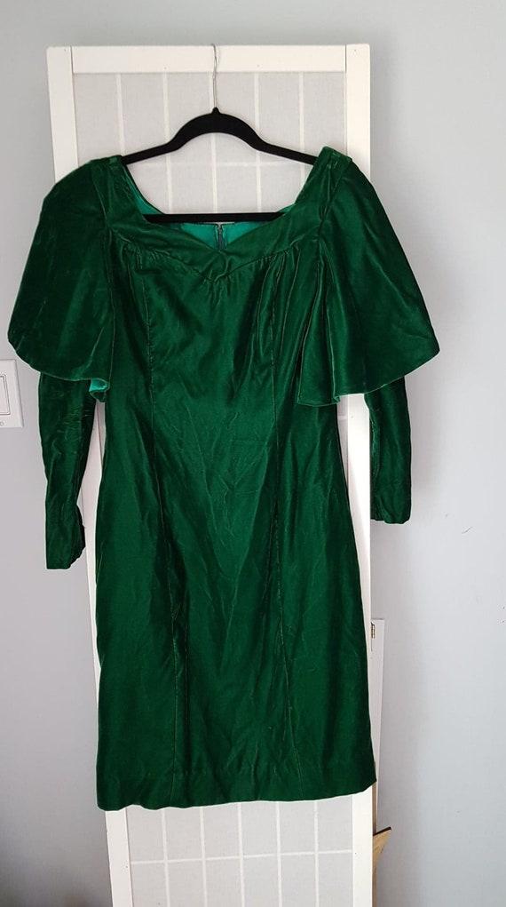 Green Velvet Vintage Medieval Dress