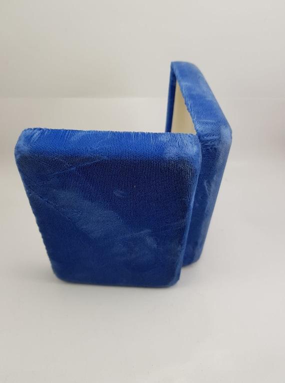 Birks Blue Velvet Vintage Jewellery Box - Necklac… - image 5