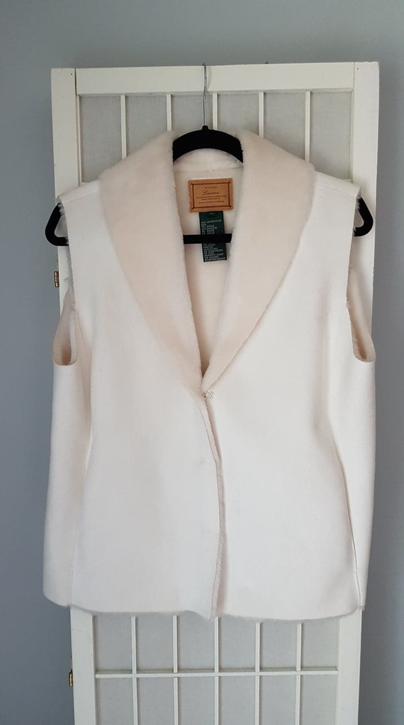 Ralph Lauren Vintage Winter White Vest , Size -L