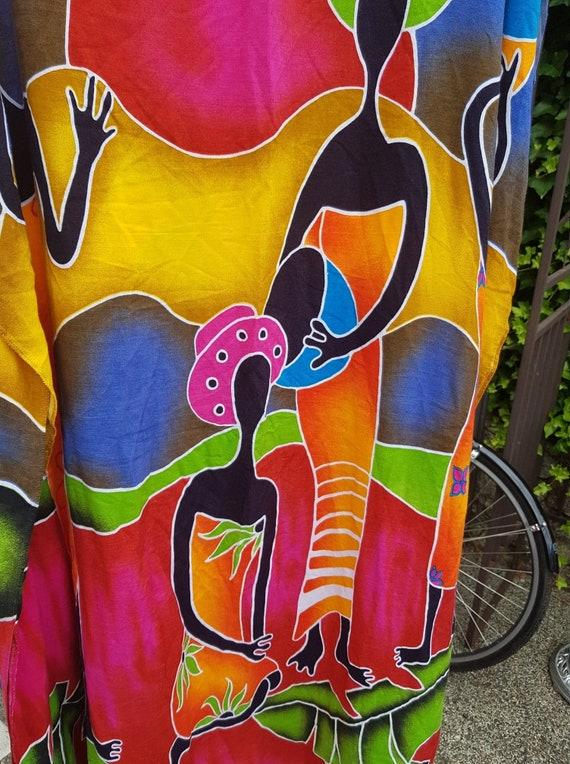 ON HOLD African Batik One Size Rayon Long Kimono D