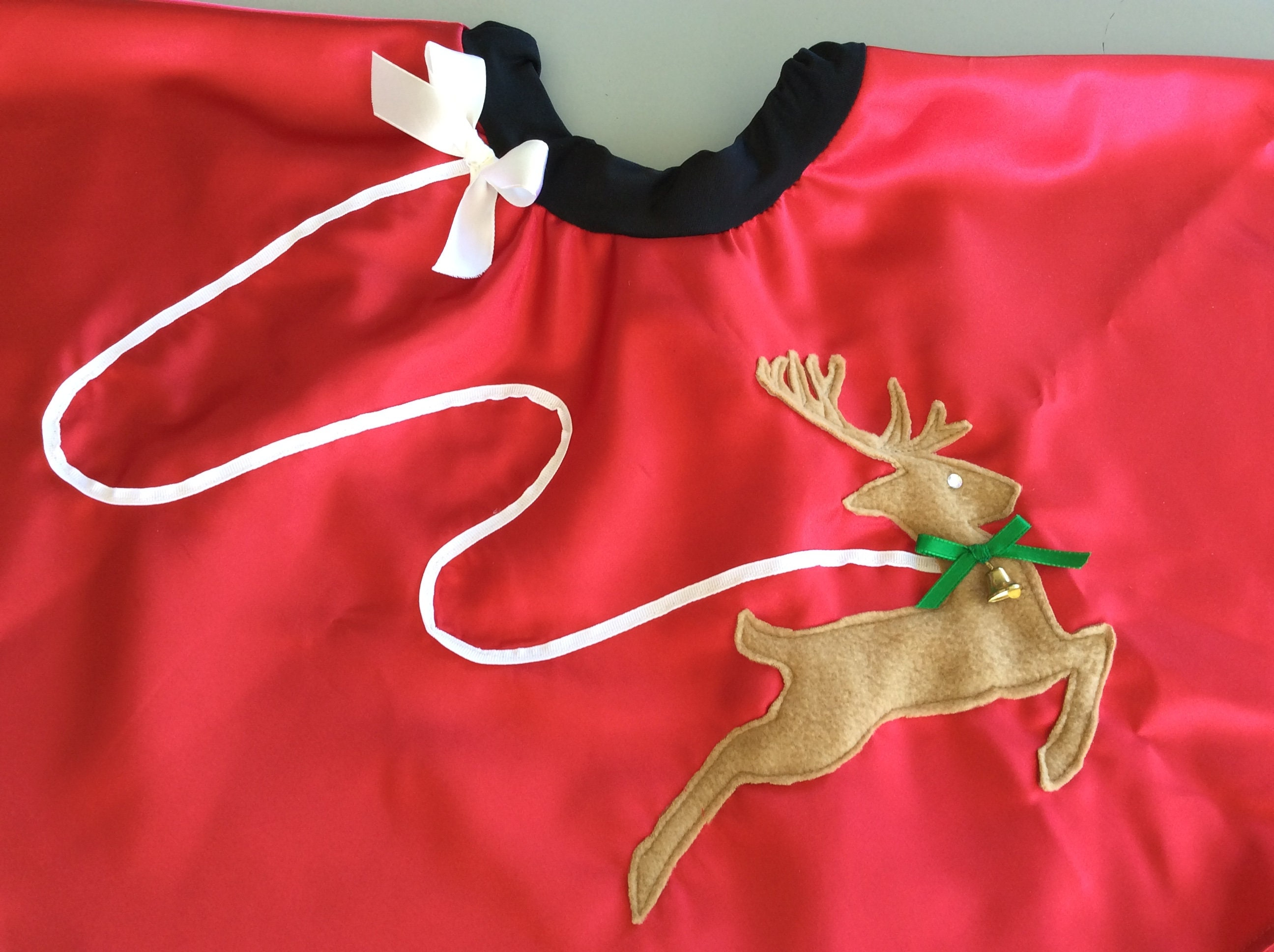 Christmas Reindeer Little Girls size 3 4T Skirt 50 s Style