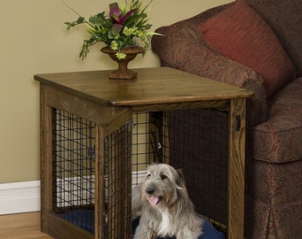 Dog Kennel Table   Etsy