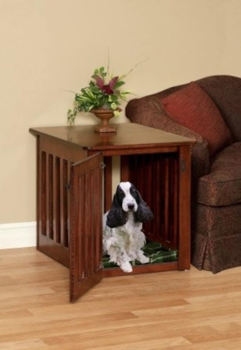 Bon Wooden Dog Crates End Table Pet Crate Furniture In Maple Wood Made By Amish  Craftsman