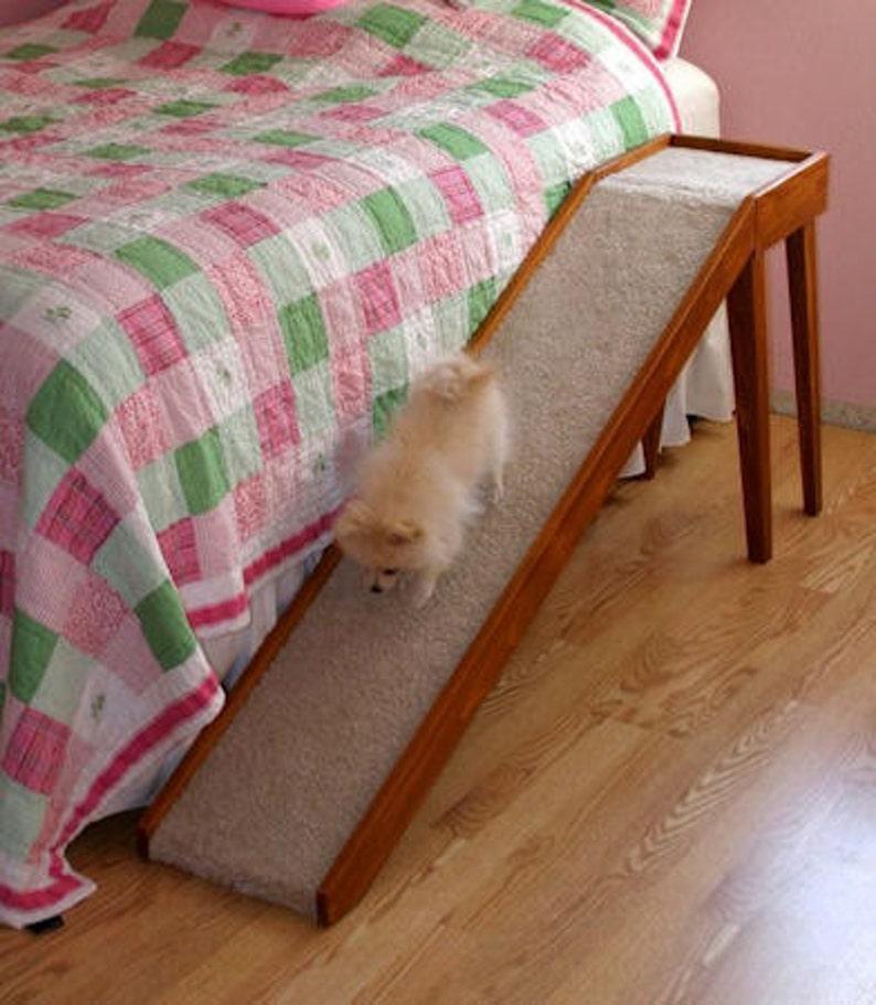 Dog Ramp For Bed >> Wooden Dog Ramp Slide 12 Oak Wood Bed Ramps For Dogs Etsy