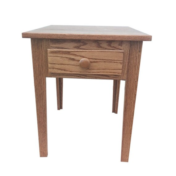 Shaker End Table Side Solid Farm, Classic Oak Furniture Illinois