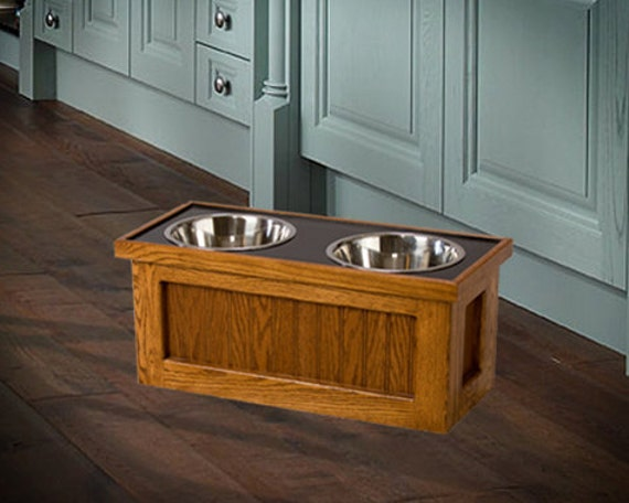 Wooden Dog Feeder With Storage An Elevated Raised For Your