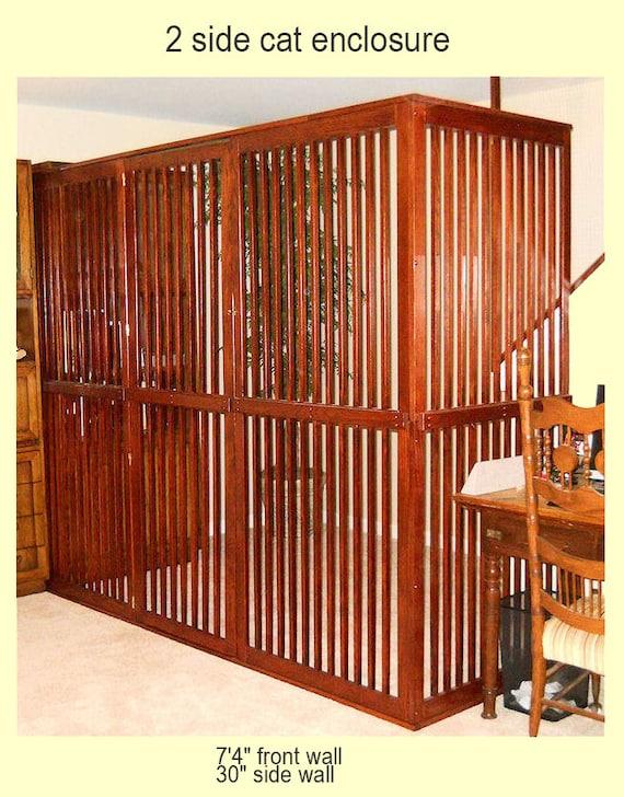 Wooden Pet Gate door included Dog Room Dividers with Door Etsy