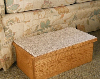 Dog Steps~Dog  Stairs For Arthritis For Bed~Solid Wood Looks Like Furniture 1 step 2 step 3 step
