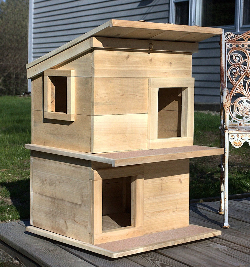 Cat House  Outdoor Cat Shelter Condo For Your Rescue Cat-Comfy image 0