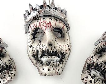 The Horror King Vinny Marseglia - Miniature Inksanity Genuine Leather Mask Ornament