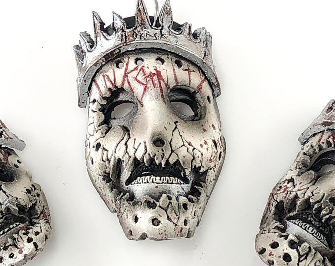 The Horror King Vinny Marseglia - Miniature Inksanity Genuine Leather Mask Ornament