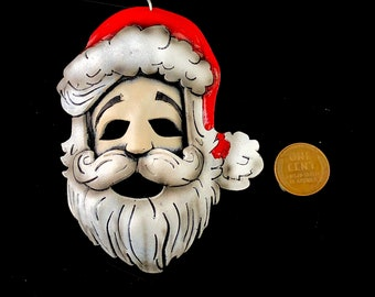 Mini Santa Miniature Genuine Leather Mask Ornament