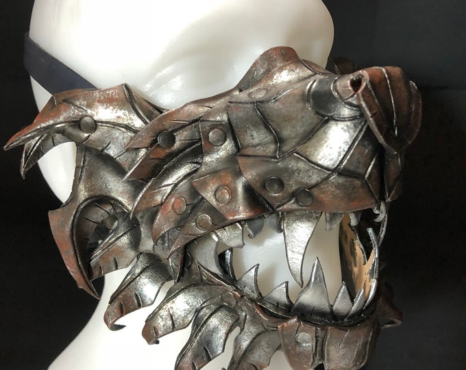One of a Kind Handmade Leather Vampire Cosplay Halloween Mask