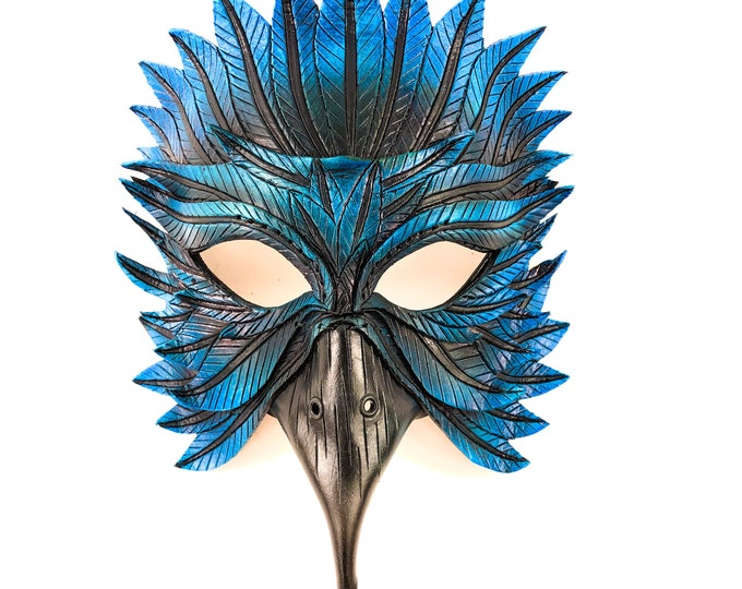Blue Raven Handmade Genuine Leather Mask