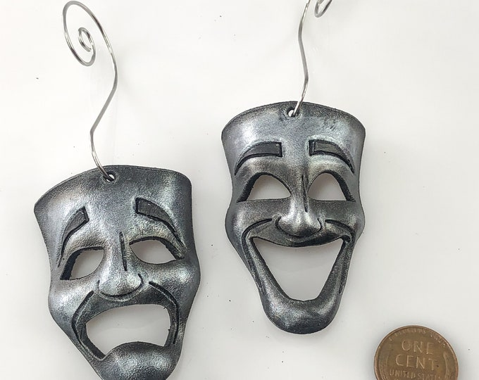 Set of Miniature Theatre Masks - Silver