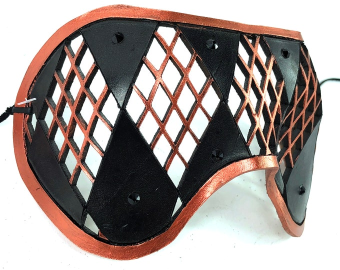 Genuine Leather Laser Cut Masquerade Style Mask