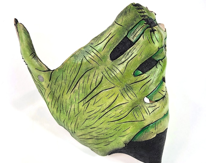 Handcrafted Genuine Leather Goblin Hand Mask