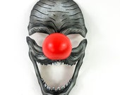 Creepy Clown Handmade Genuine Leather Mask