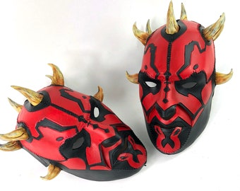 Handcrafted Genuine Leather Darth Maul Mask