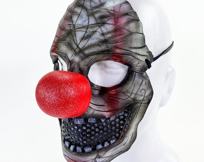 Creepy Clown Handmade Genuine Leather Mask