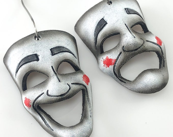 Set of Miniature Theatre Masks - White Theatrical Mask
