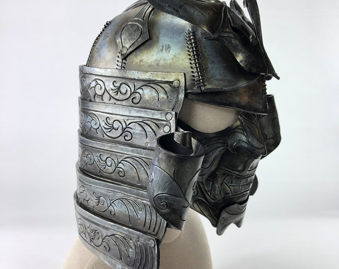 Samurai Handmade Genuine Leather Mask