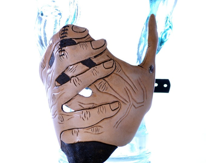 Speak No Evil - Men's Hands - One Size Fits All Handmade Genuine Leather Riding Mask