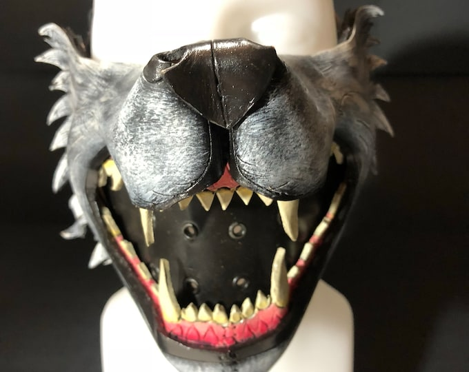 Mouth of the Lycan - Handmade Genuine Leather Riding Mouth Mask