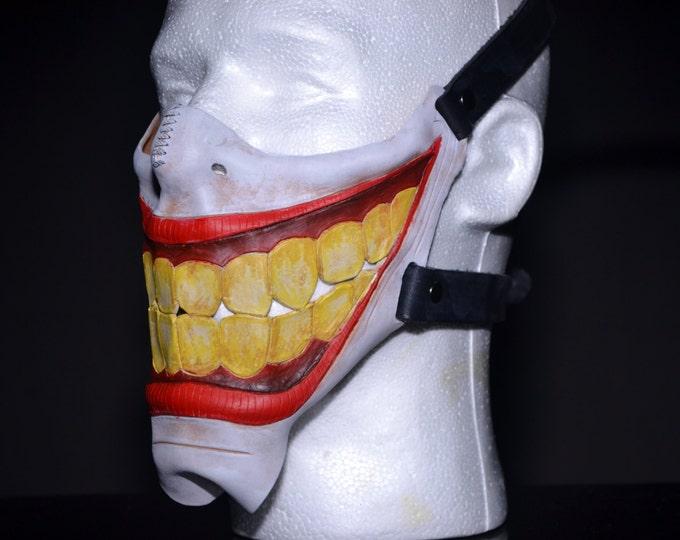 Smiling Handmade Genuine Leather Riding Mask