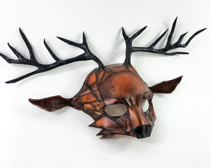 Geometric Deer Leather Mask