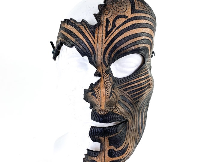 Broken Tribal  - One of a Kind Handmade Leather Mask