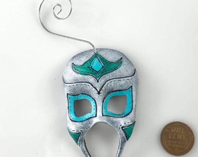 Miniature Genuine Leather Mask Ornament, Bag Charm, or Keychain