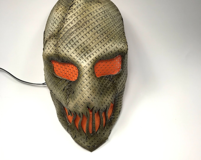Scarecrow Mask Handmade Genuine Leather Mask in Brown