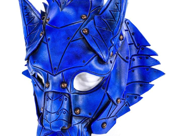 Feline Blue Handmade Genuine Leather