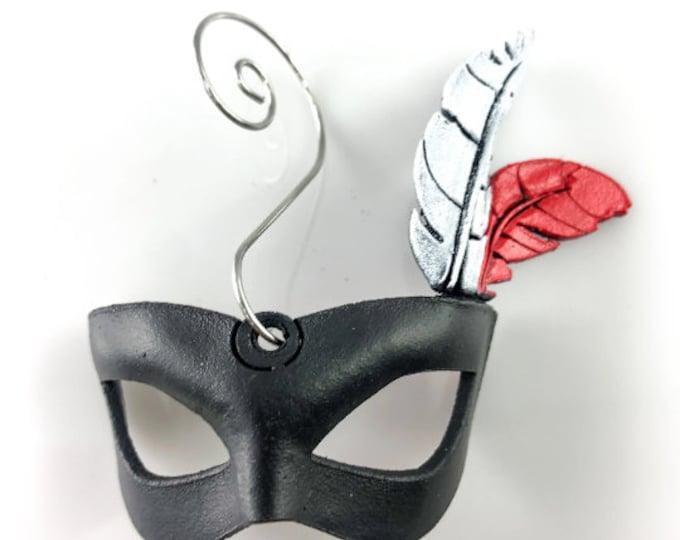 Luchador Miniature Genuine Leather Mask Ornament, Bag Charm, or Keychain