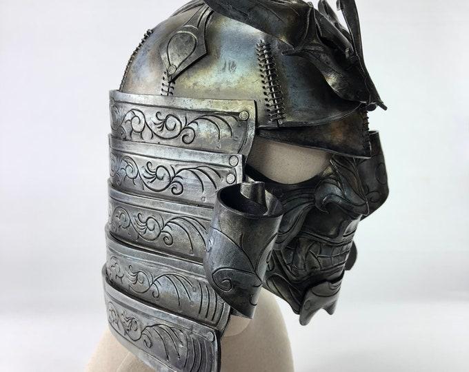 Samurai Handmade Genuine Leather Mask