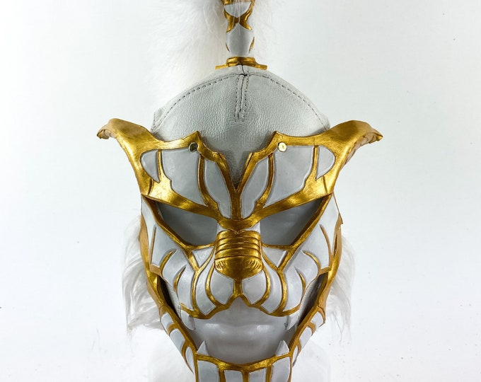 One of a Kind Luchador Cat Handmade Leather Mask