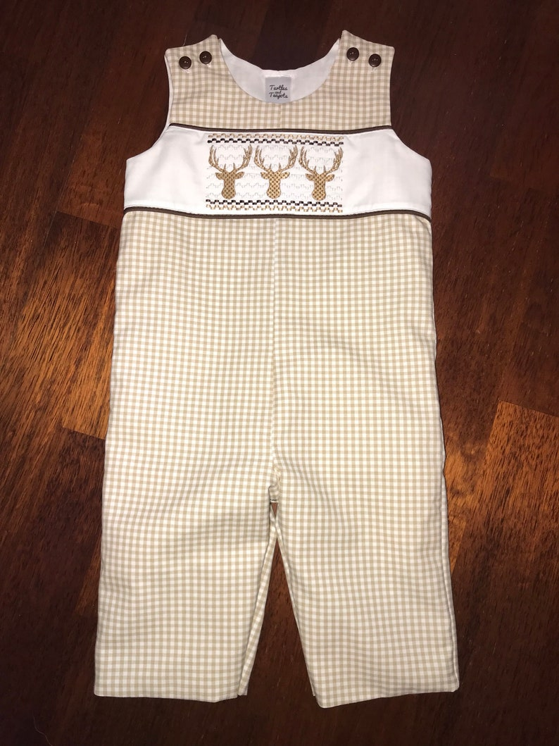 Deer Smocked Longall One-pieces