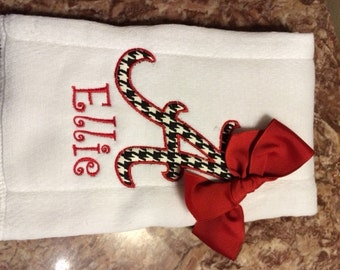 ALABAMA APPLIQUE Burp Cloth