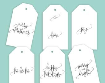 printable gift tag etsy