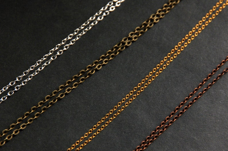 a451f2dee8ce Necklace Chain in Silver Gold Bronze or Copper Turn Any