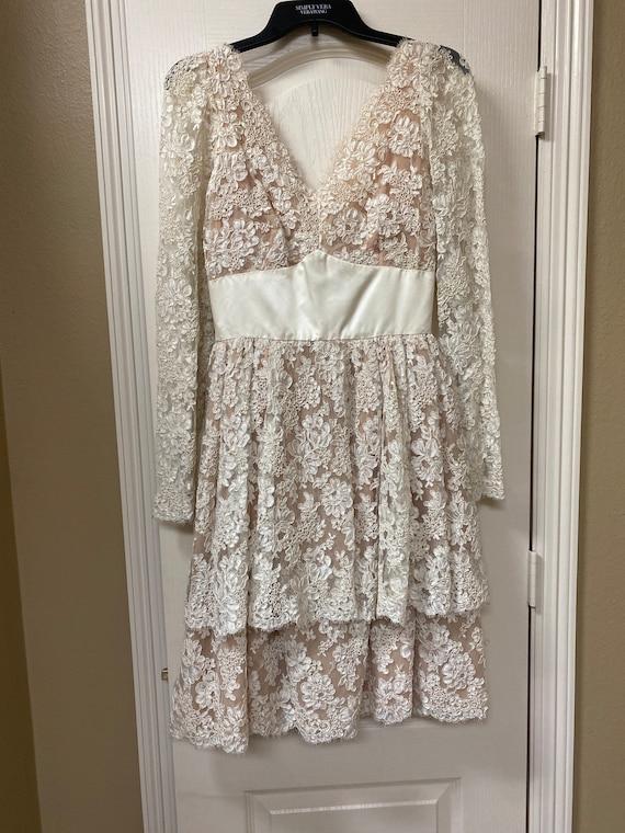 Vintage Richiline Tiered Lace Dress