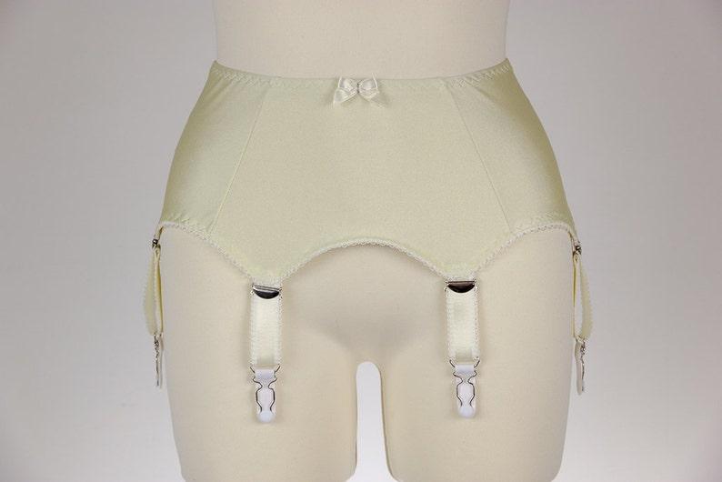 57b03cf66d1 Cream GRETA Garter Belt 6 Strap Retro Style Suspender Belt