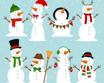 snowman clipart etsy rh etsy com snowman clipart free snowman clipart black and white free
