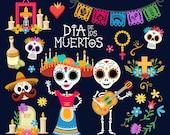 Day of the dead clip art Dia de los Muertos graphics Fiesta clipart Mexico clipart Mexican Fiesta Sugar skull Mexican Party Clip Art