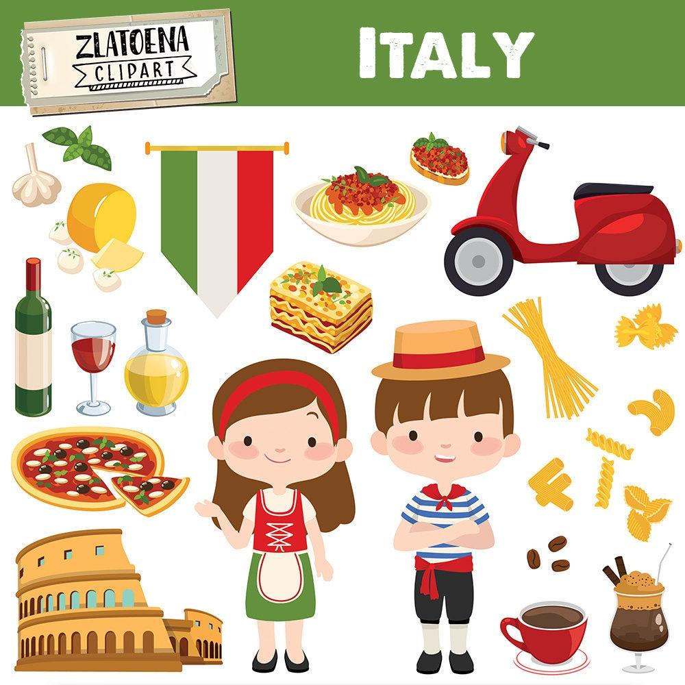 Italian clip art Italy clipart Pizza clipart Pasta Food ...