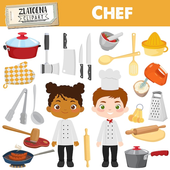 Cooking Kitchen Clip Art: Chef Clipart Cooking Party Clip Art Cook Clipart Utensils
