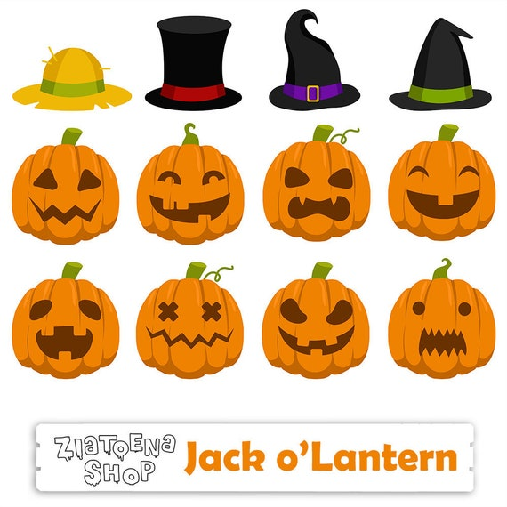 jack o lantern clipart pumpkin clipart halloween clipart etsy rh etsy com Jack O Lantern Pumpkin Clip Art Black and White Halloween Clip Art