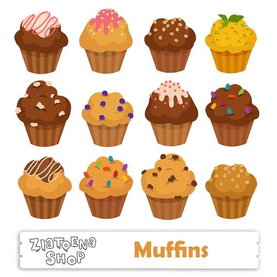 Muffin Clipart Muffins clipart Cupcake SVG Muffin Digital