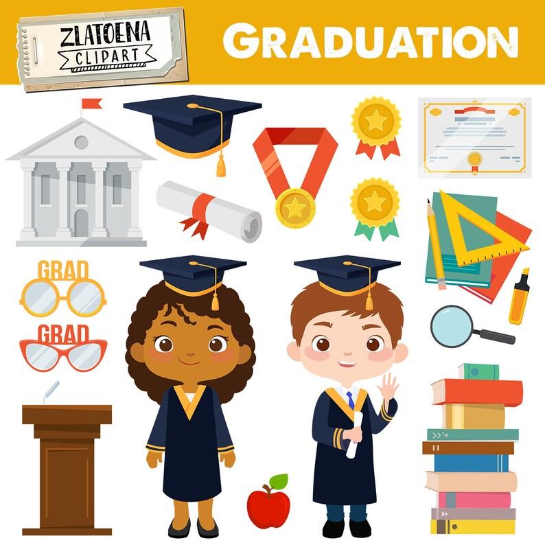 Graduation Clip Art School Clipart Graduation graphics Grad clipart End of School Graduation Kids Digital Graduation Papers Diploma clipart